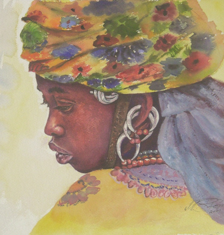 African Painting by Margrit-Rose People 17 | The Chronicles of an ...