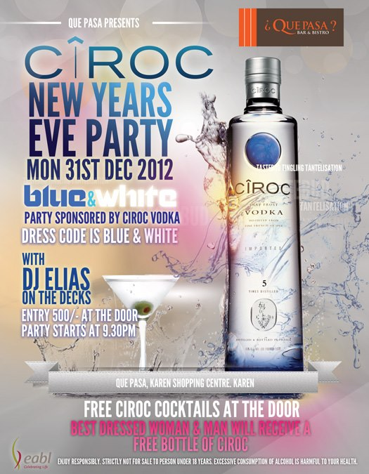 Que Pasa New Years Eve Package December 31st 2012