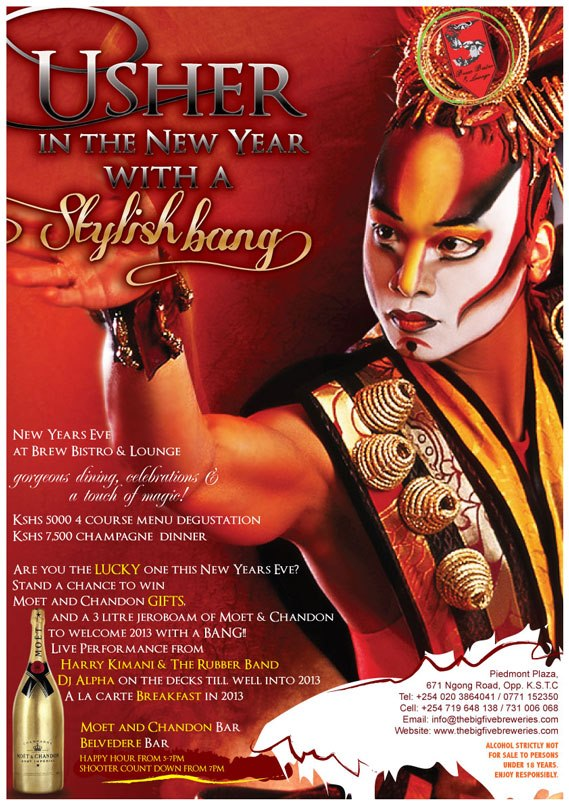 Brew Bistro New Years Eve Package Nairobi 2012