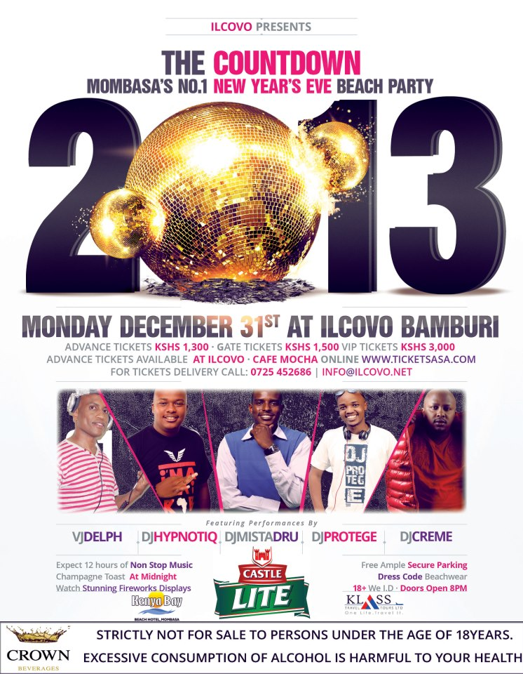 Il Covo New Years Eve Package December 31st 2012