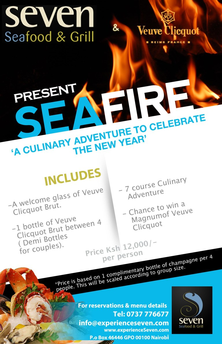 Seven Seafood Restaurant New Years Eve Package December 31st 2012