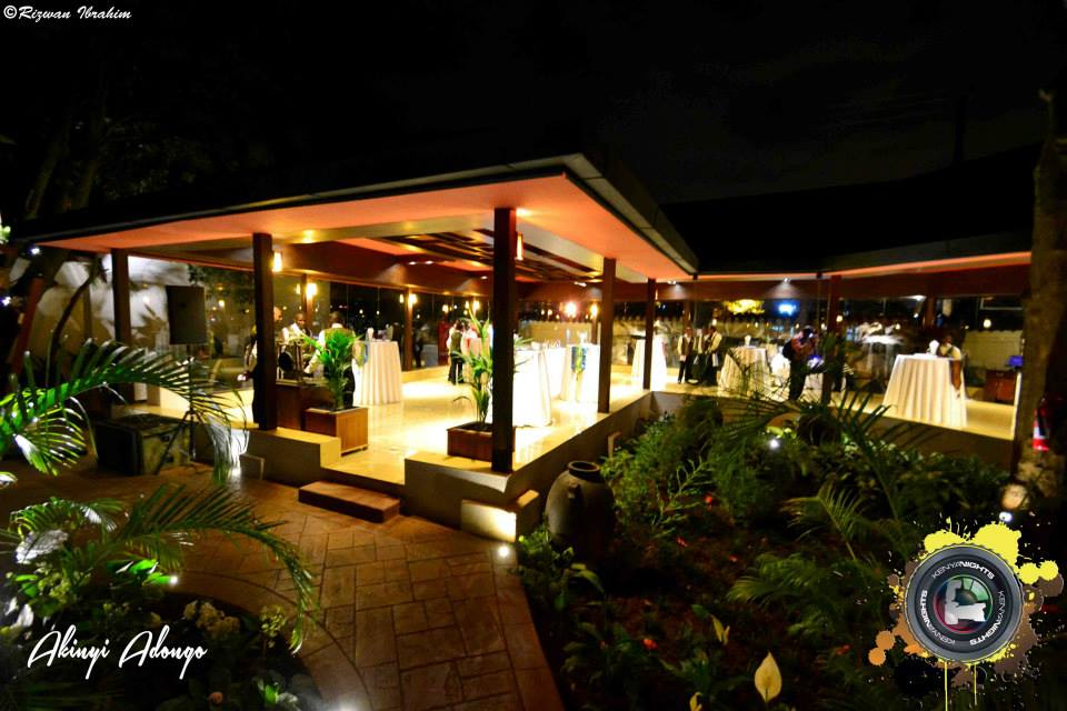 The opening night of emerald garden the latest addition for Pool garden restaurant nairobi