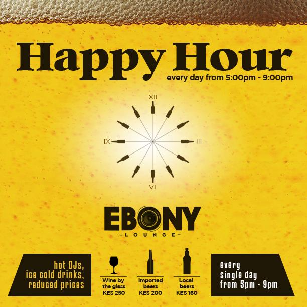 Ebony Lounge Daily Happy Hour Akinyi Adongo