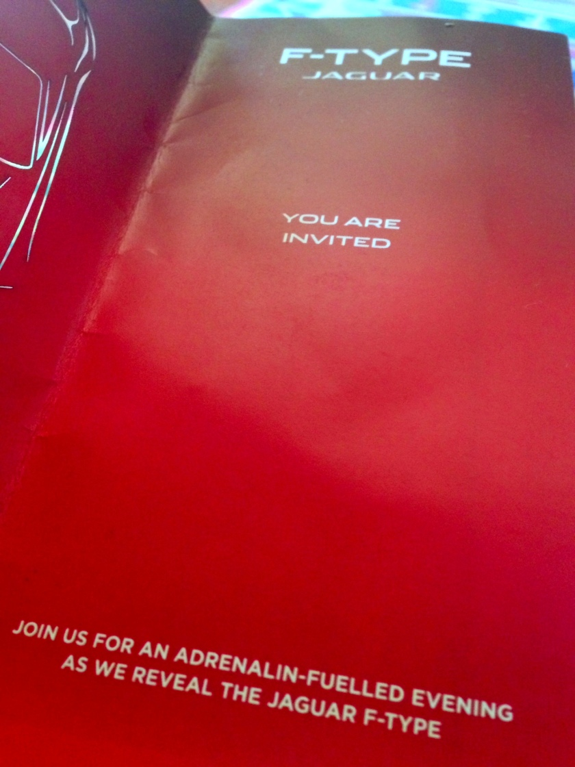 Jaguar F Type Launch Invitation Card Nairobi Akinyi Adongo 11