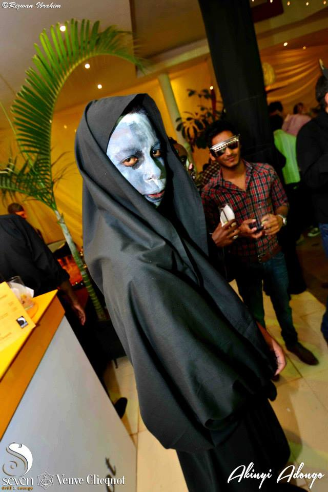 16 Akinyi Adongo Halloween Yelloween Party Veuve Clicquot Nairobi
