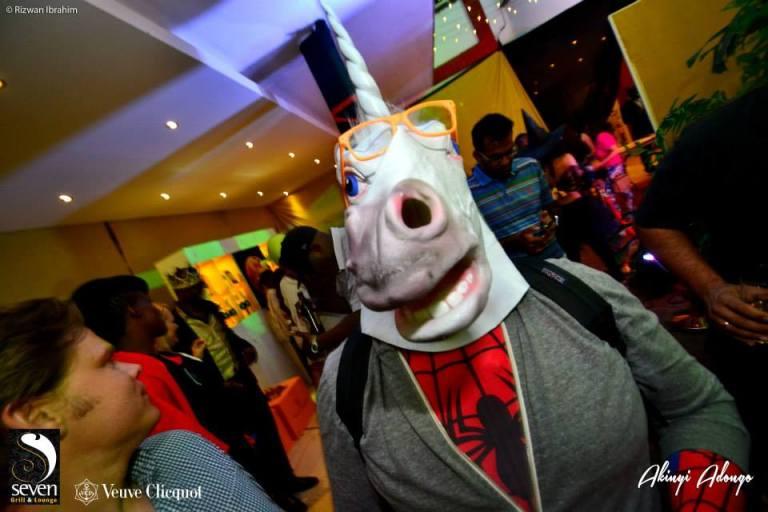85. Horsehead Halloween Costume Party Nairobi Kenya Akinyi Adongo
