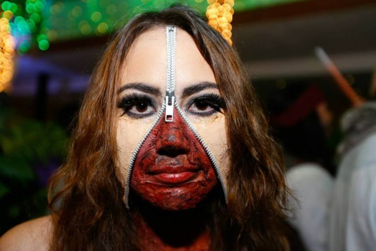 Zip Face Halloween Costume Party Nairobi Kenya Akinyi Adongo