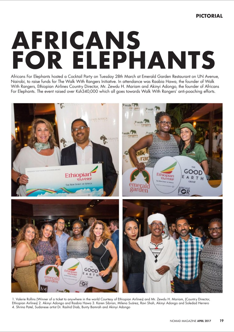 Africans For Elephants Cocktail Event Ethiopian Airlines
